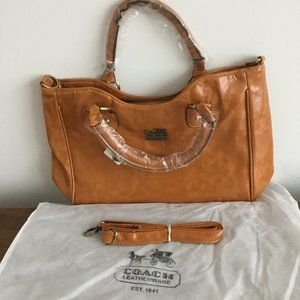 Coach Leather Zip Top Satchel NWT Large